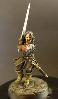 2paintminiatures Painting 28mm Aragorn From The Two Towers